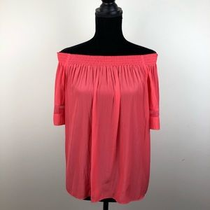 Ramy Brook silk off the shoulder blouse